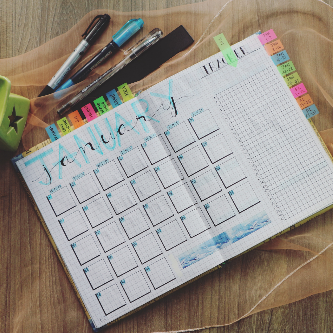 January front view planner